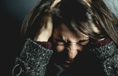 woman angry and depressed